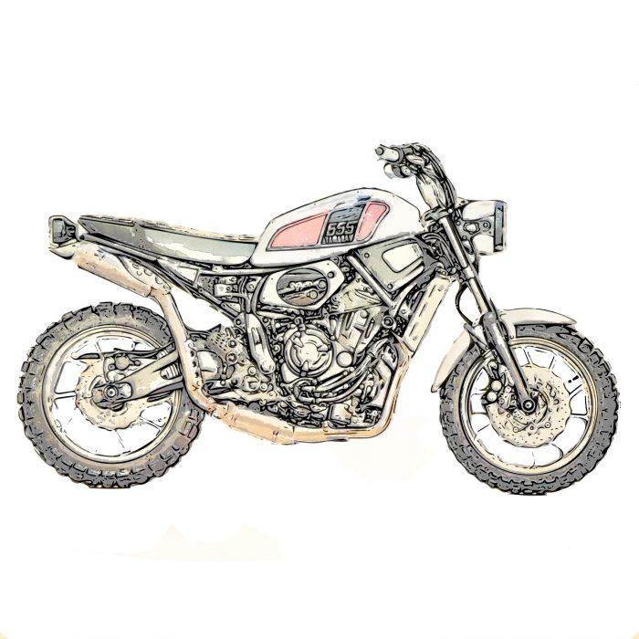 XSR700 XT500カラー スクランブラー
